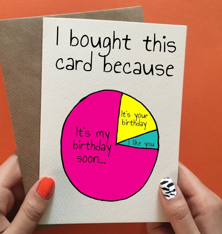 Funny birthday card for friend ,sister or brother! Pin it to gift ideas!