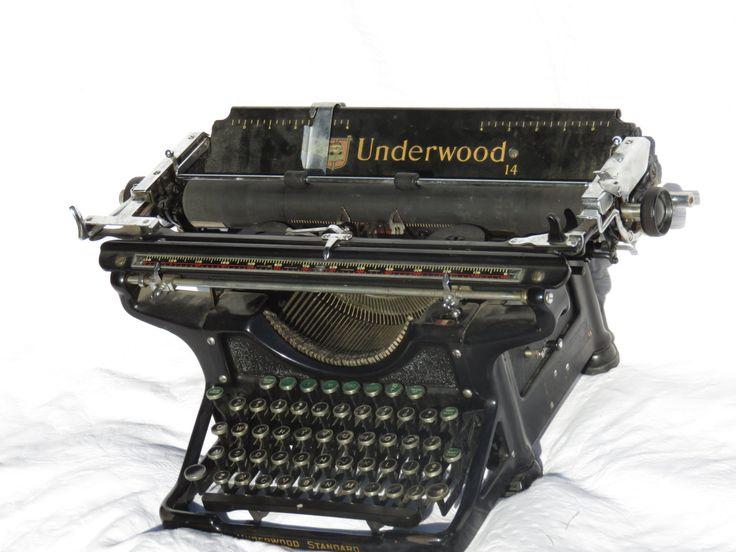 Vintage 1930's Underwood Champion 14 Standard Manual Typewriter, Rare Green Function Keys, Vintage Office, Working Typewriter by GinnysGirlsTreasures on Etsy