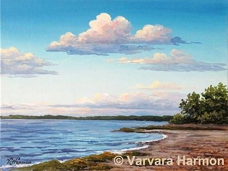 Cleaves Landing Shore Painting