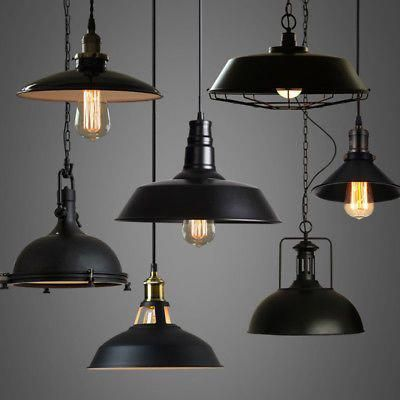 Details about Industrial Loft Warehouse Barn Pendant Lamp Indoor Hanging Ceiling Light Fixture - All For Decoration Outdoor Pendant Lighting, Industrial Ceiling Lights, Hanging Ceiling Lights, Loft Lighting, Industrial Light Fixtures, Industrial Pendant Lights, Barn Lighting, Ceiling Light Fixtures, Industrial House