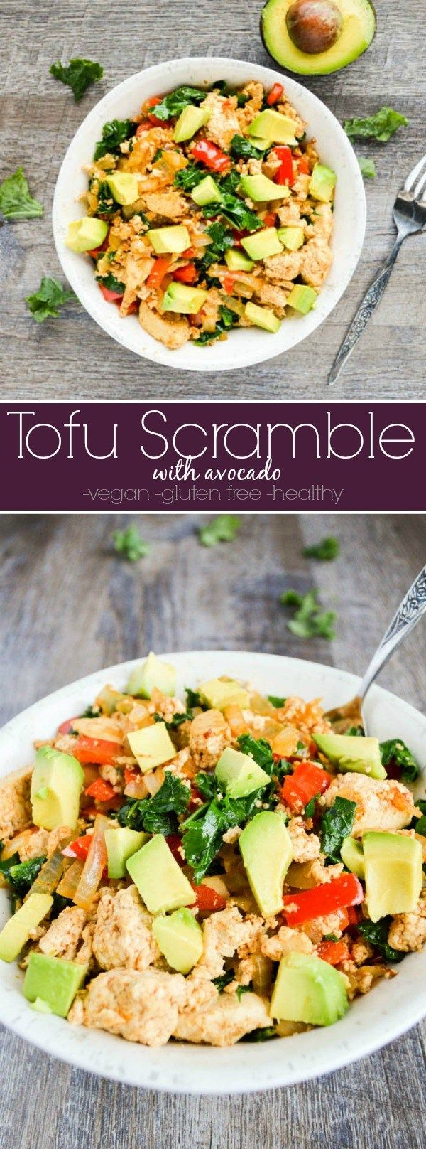 Tofu Scramble recipe - plant based, vegan breakfast that is a great egg replacement!