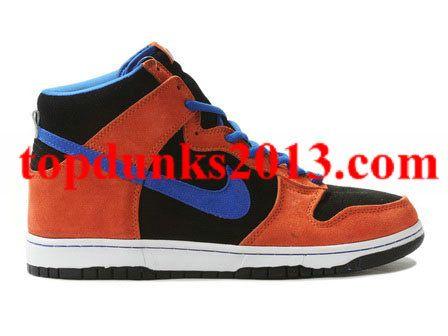 Premium New York Mets Orange Blue Sapphire Nike SB Dunk High Top Internet  Sales