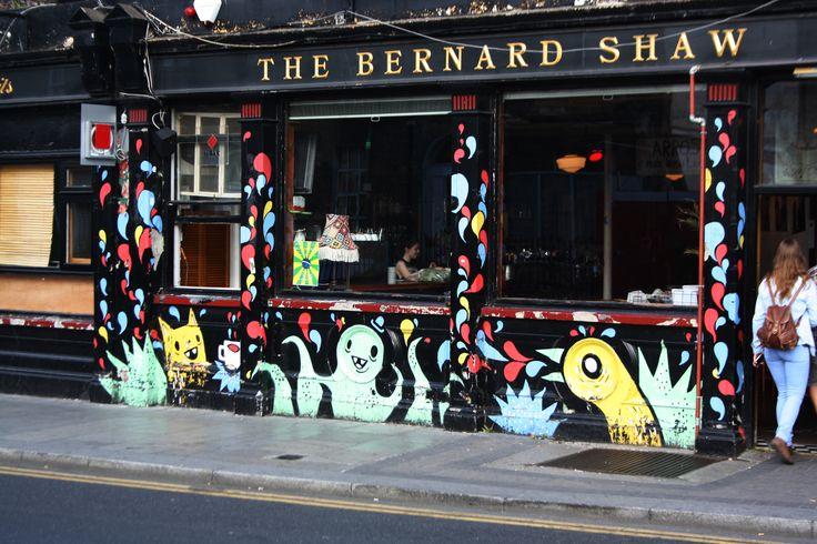 The Bernard Shaw pub, Richmond Street, Dublin 2. Definitely worth a visit, even just to admire the art. Artist unknown
