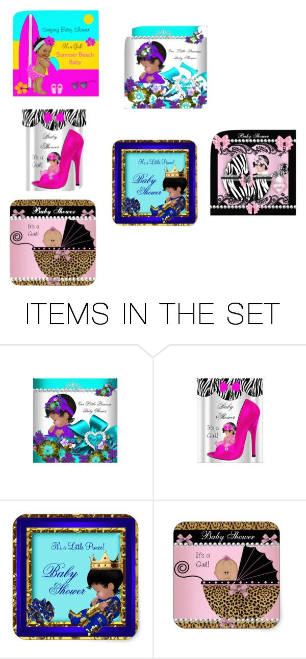 """Baby shower Invitations"" by williamballester on Polyvore featuring art"