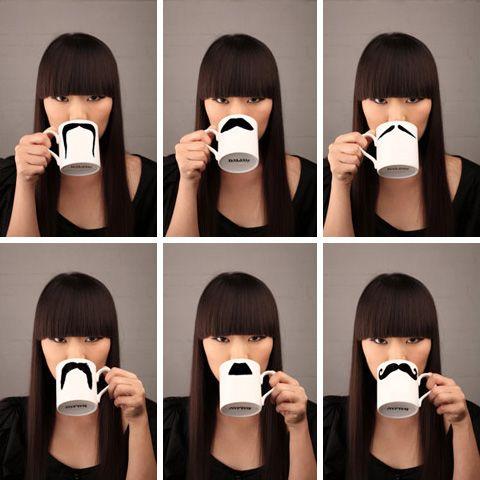 mustache mugs - gotta get me some