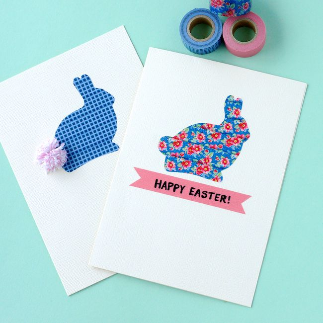 Easter Card Ideas To Make Part - 28: Washi Tape Easter Bunny Cards