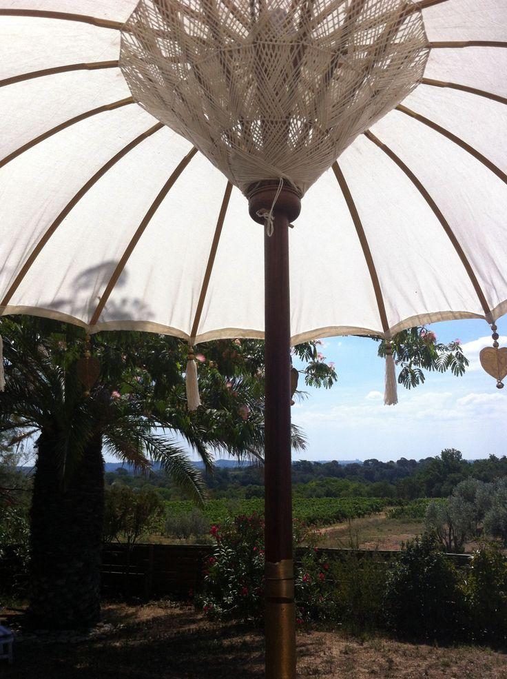 les 55 meilleures id es de la cat gorie parasols balinais pour le jardin la terrasse sur. Black Bedroom Furniture Sets. Home Design Ideas