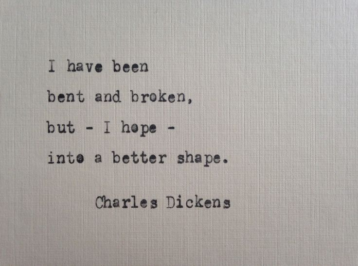 Charles Dickens quote hand typed on antique typewriter scrapbooking