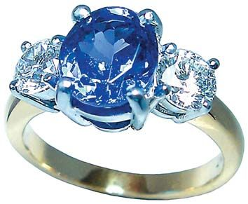 Tanzanite  and diamond ring by Petersens Jewellers, Merivale, Christchurch