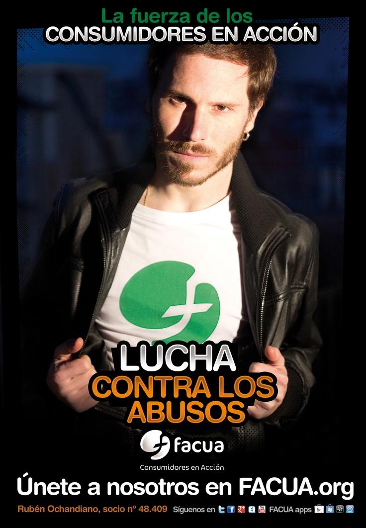 Rubén Ochandiano, socio de FACUA nº 48.409, llama a los consumidores a la lucha contra los abusos