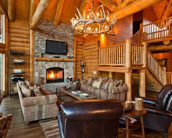log cabin living room. Spaces Log Cabin Kitchens Design  Pictures Remodel Decor and Ideas page 20 109 best Love images on Pinterest At home Beach