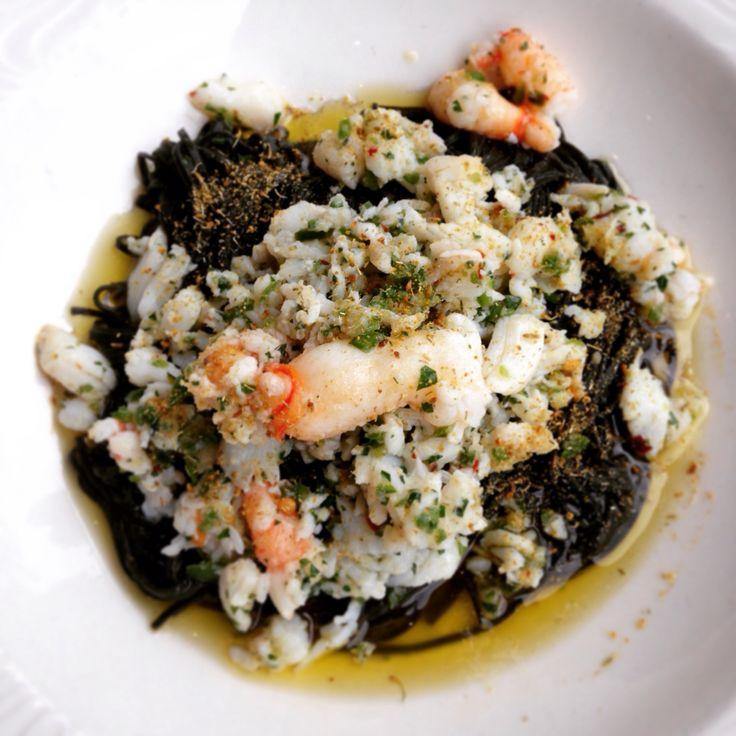 Tagliarini Neri - warm spanner crab, fresh chilli and lemon by Rosetta Melbourne Casino