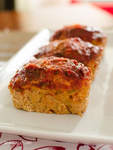 Mini Chicken Meatloaves with a Tomato and Rosemary Sauce | Slimming Eats - Slimming World Recipes