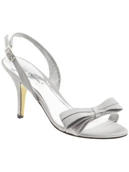 Pierre Dumas Premier-2 in silver satin #shoes #3inches #silver #bow