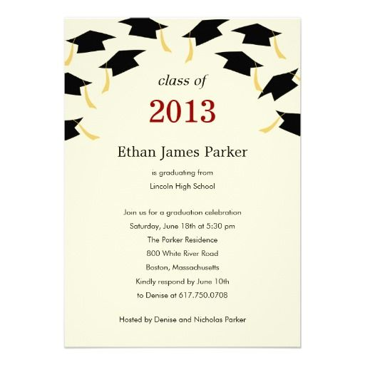 20 best Graduation Party Invitations Templates images on Pinterest - graduation announcement template