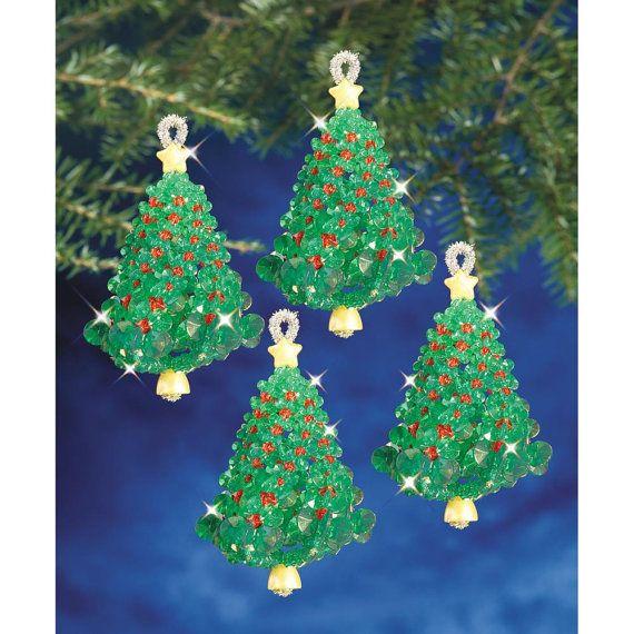 Albero verde smeraldo torsioni ornamento Kit fai da TE perline ornamenti albero di Natale ornamenti vacanza Bead Kit