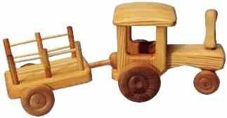 Debresk Big Tractor with Cart - Honeybee Toys