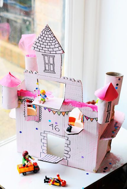 31 best images about make your own dollhouse on pinterest for Build your own castle home