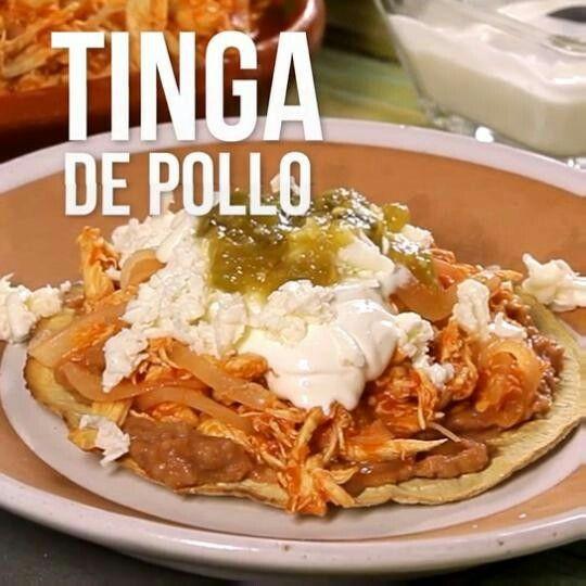 Tinga de pollo.https://www.kiwilimon.com/receta/carnes-y-aves/pollos/pollos-mexicanos/tinga-de-pollo