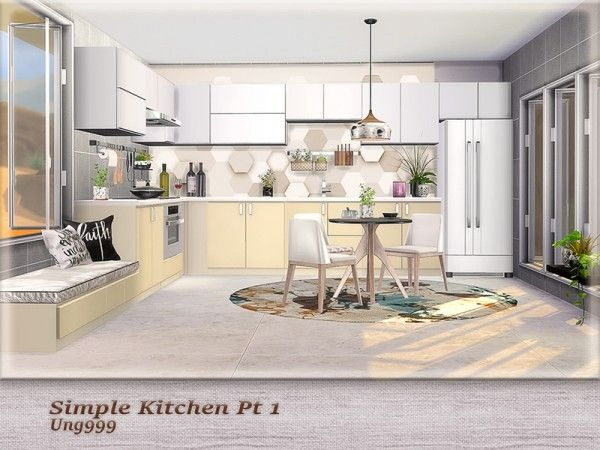 The Sims Resource Simple Kitchen Pt 1 By Ung999 Sims 4 Downloads Sims 4 Kitchen Simple Kitchen Kitchen Sets