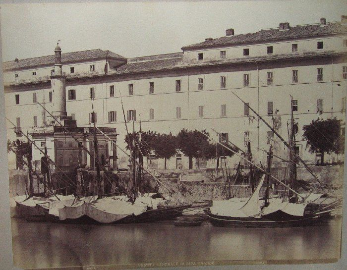 Veduta generale di Ripa Grande 1880