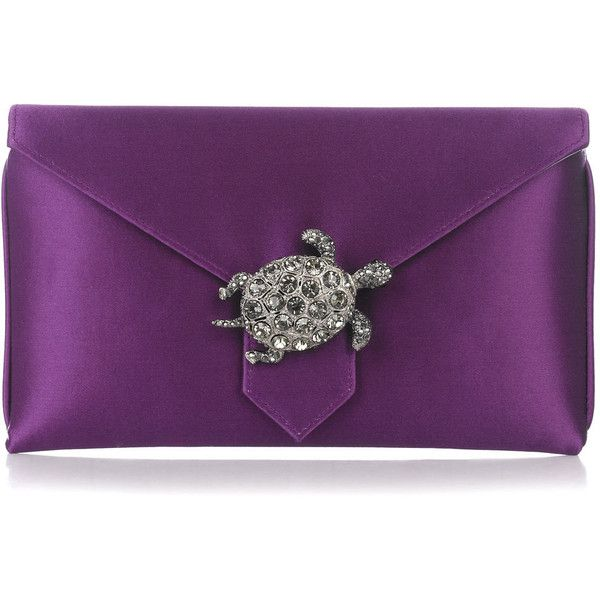 Wilbur and Gussie Charlie Purple Clutch ($245) ❤ liked on Polyvore