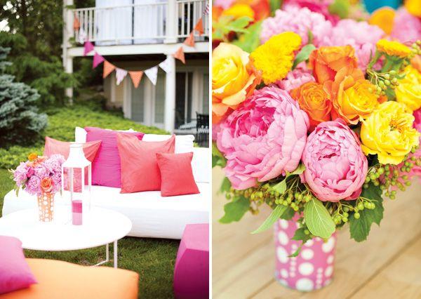 Pop Into Summer Bright Backyard Party