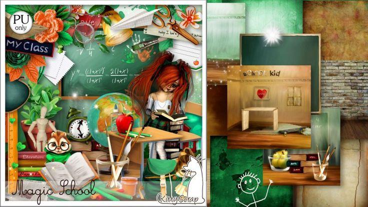 kit magic school by kittyscrap