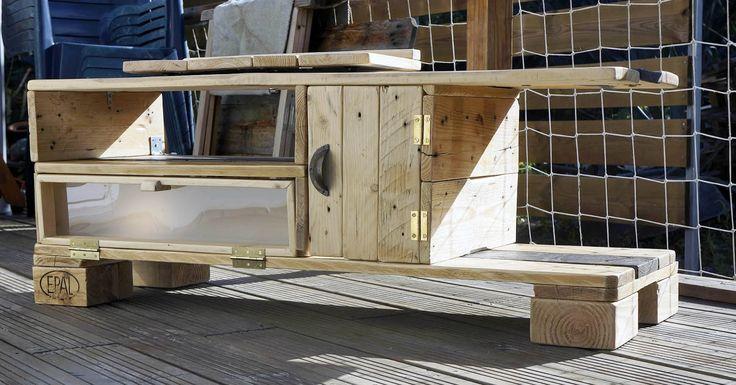 Récup & design: Meuble télé en bois de palettes de manutention. Design industrielle