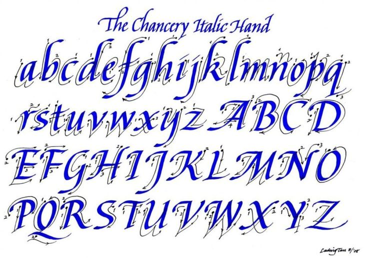 144 best italic calligraphy images on pinterest Learn calligraphy letters
