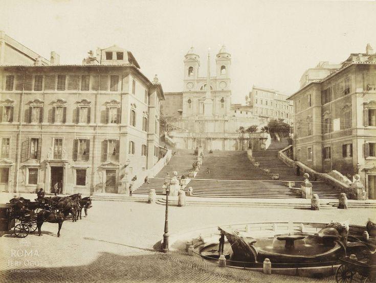 Piazza di Spagna (1880 ca)Roma Ieri Oggi   Roma Ieri Oggi