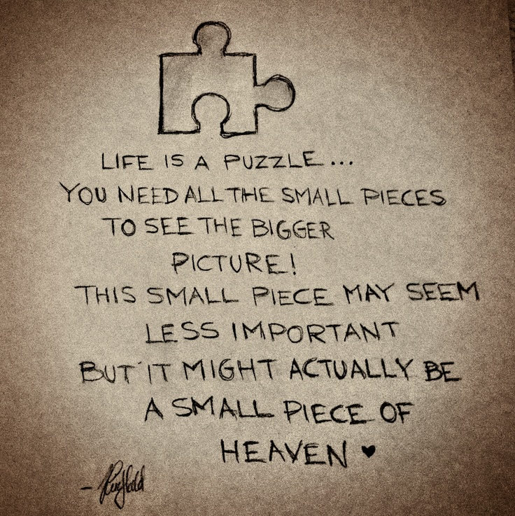Messed Up Life Quotes: Quotes Life Is Like A Puzzle. QuotesGram