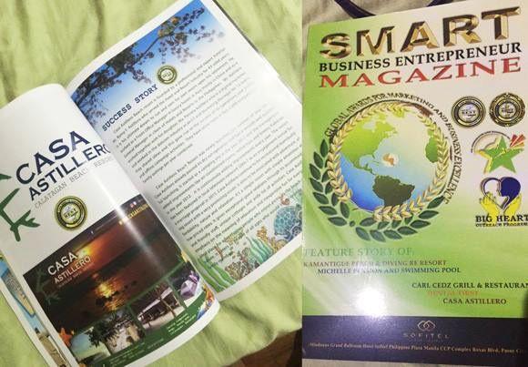 Actual print of created Casa Astillero Calatagan Resort's magazine ads.