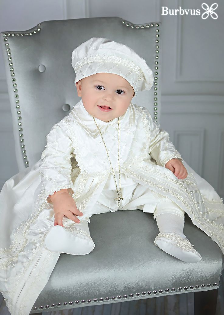 Little Todd posing with his Christening Gown Burbvus B001