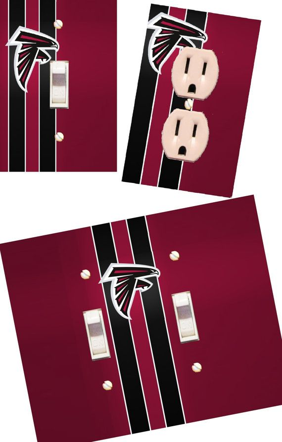 Atlanta Falcons Light switch wall plates by HigginsCraftCorner