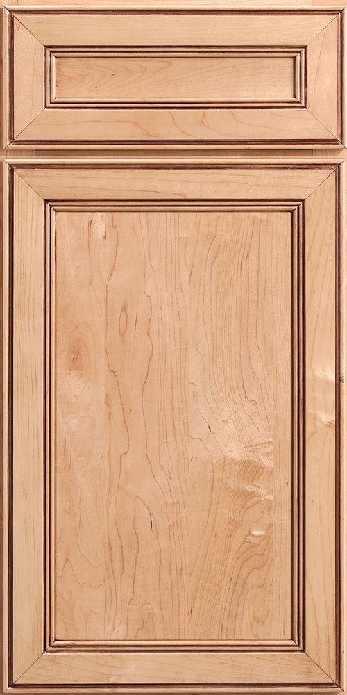 Merillat Classic Bellingham Door Style With Five Piece Drawer Front In  Natural Stain With Java