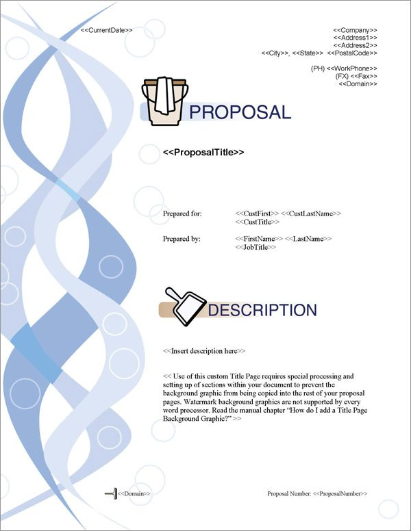 Proposal Pack Janitorial #1 Title Page