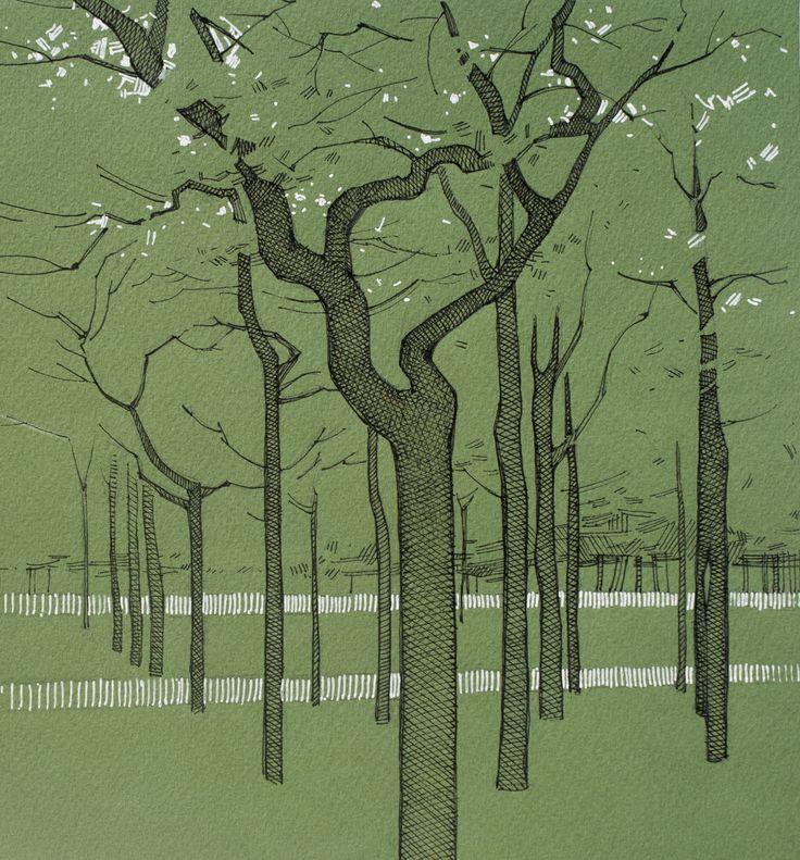 #trees #park #sketch