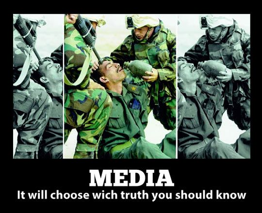 What the media wants you to see… This is SOOOOO true. A very common practice in the media ... kd