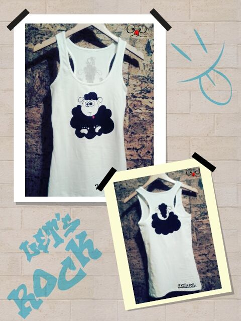 """My new hand painted """"Crazy sheep"""" t-shirt!"""