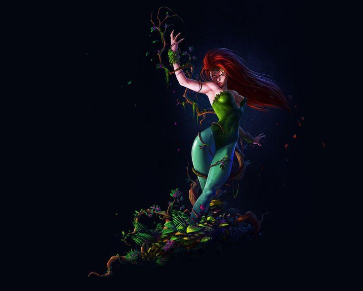 Скачать обои DC Comics, фон, растения, Pamela Lillian Isley, Памела Лилиан Айсли, Poison, ядовитый плющ, раздел фантастика в разрешении 1920x1536