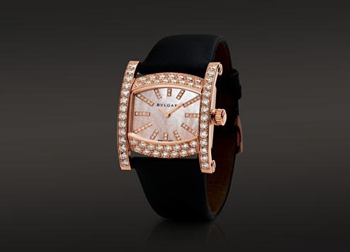 assioma quartz watch with an pink gold case