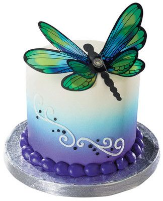 Create a majestic dragonfly cake with layon #17867 from DecoPac