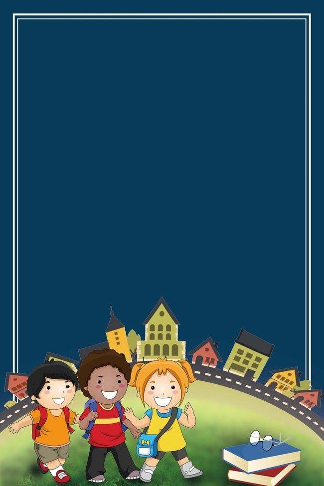 Promotional Activities In Cartoon School Season Cartoon Cartoon Background Simple Cartoon