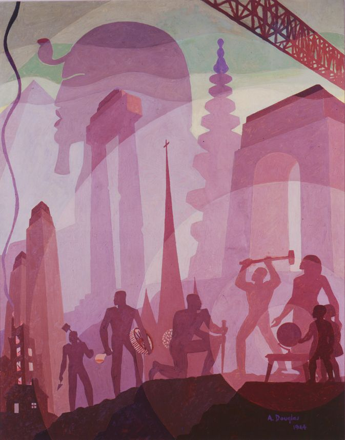 Aaron Douglas, Building More Stately Mansions, 1944