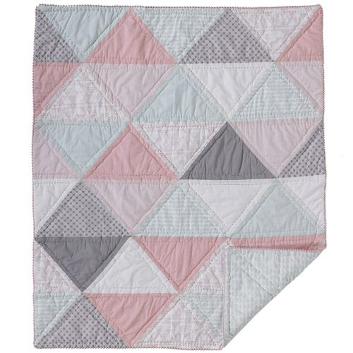 Lolli Living - Sparrow Quilted Comforter (Triangle Patchwork) at West Coast Kids