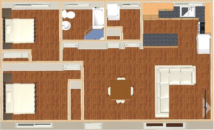 Granny Flat Design - The Sapphire - 69.9m2