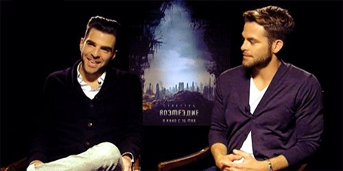 They play fun games with each other: | Zachary Quinto And Chris Pine's Bromance Is The Best Bromance