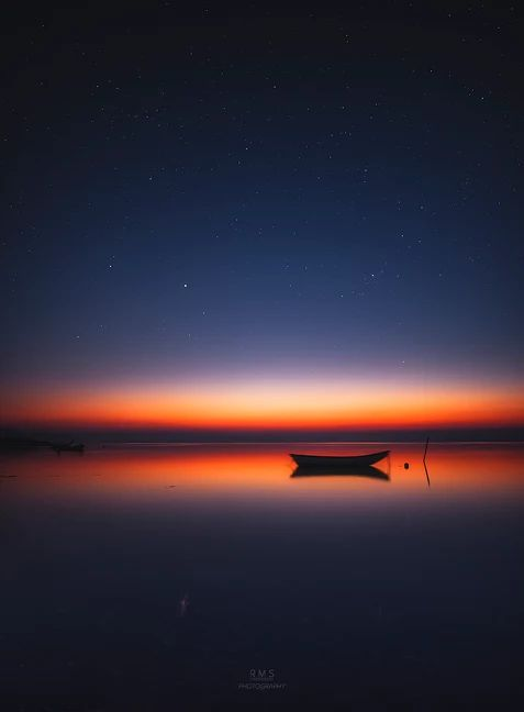 Midnight Glow | The midnight glow over Limfjord. This is how dark the sky is during the summertime. The Milky Way will again be available to photograph at the beginning of August.
