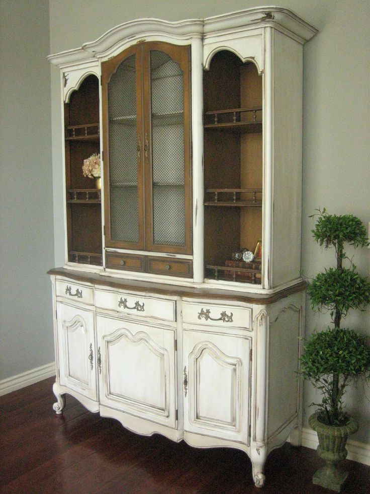 54 best china hutch images on Pinterest | Painted furniture ...